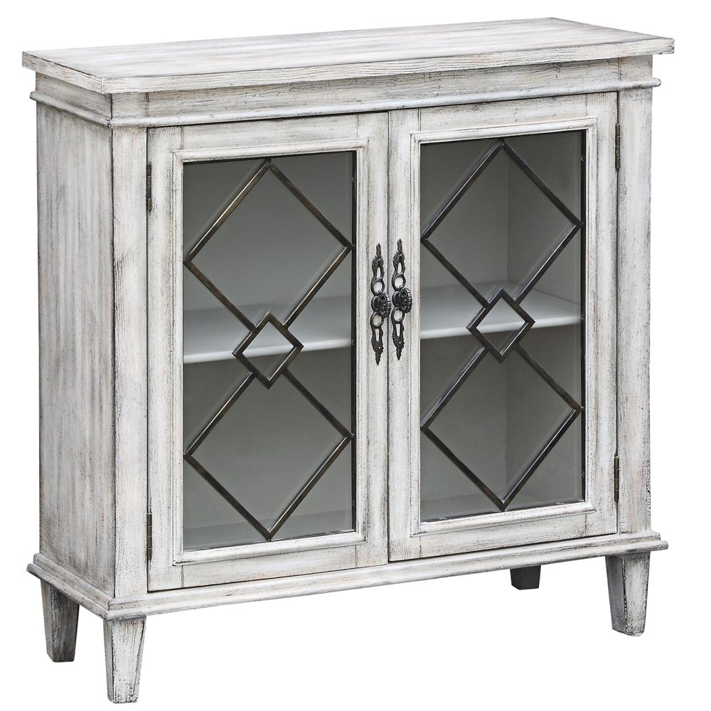 Lindsey White Wash Wood Breakfront Textured 2 Door Sideboard – Style Intended For Most Recent White Wash 2 Door Sideboards (#10 of 20)