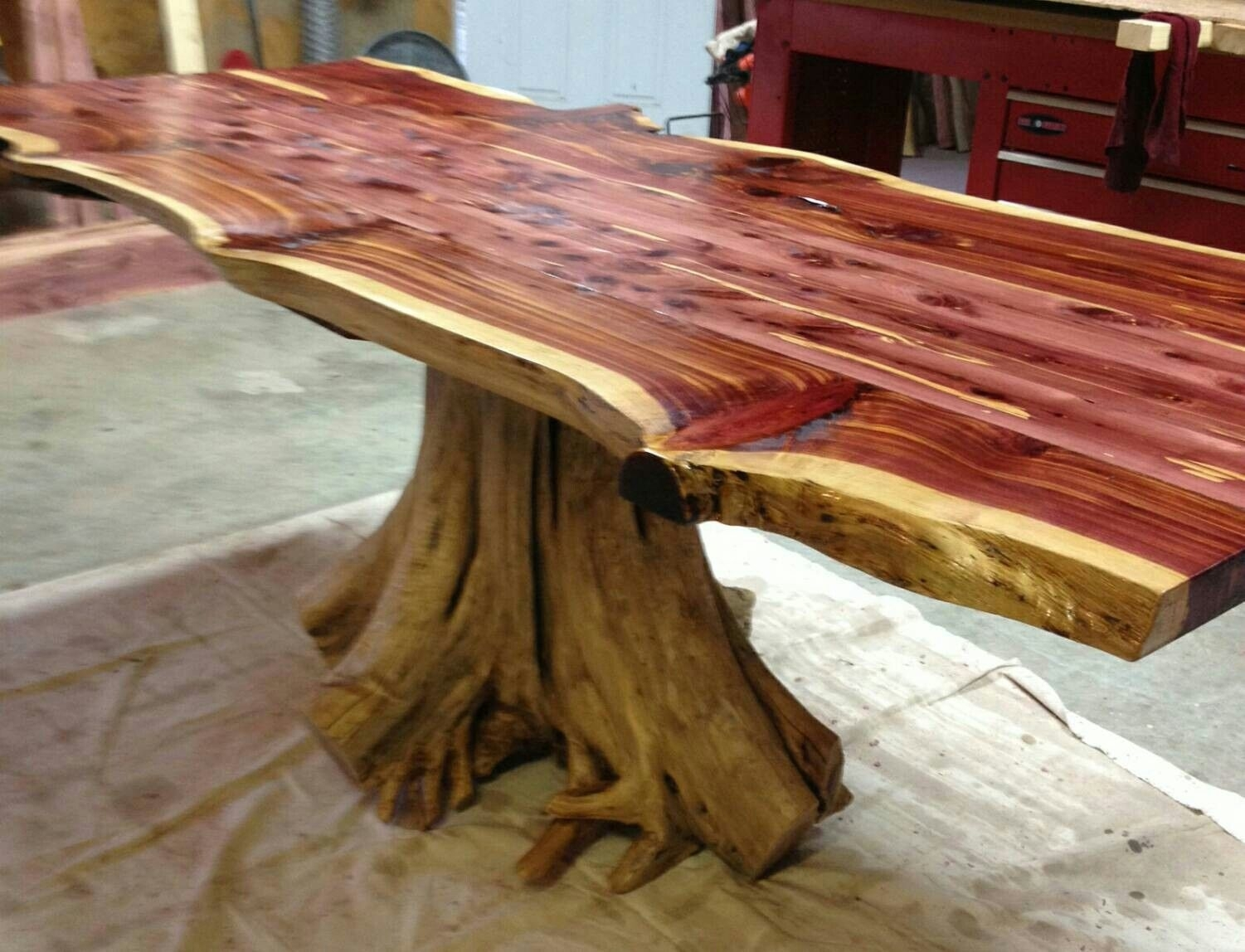 Live Edge Cedar Stump Dining Table (#14 of 20)