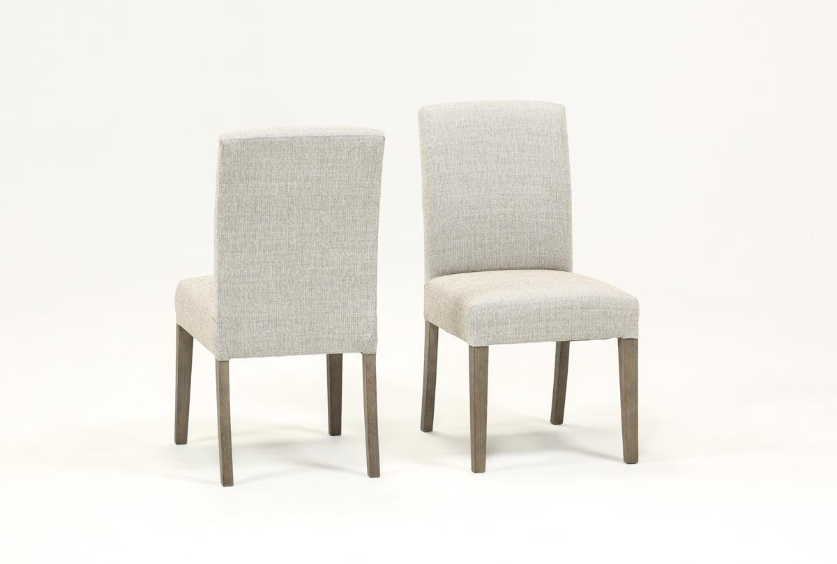 Inspiration about Living Spaces For Newest Garten Onyx Chairs With Greywash Finish Set Of 2 (#1 of 20)