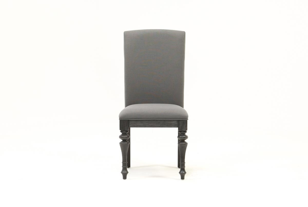 Popular Photo of Caira Black Upholstered Side Chairs