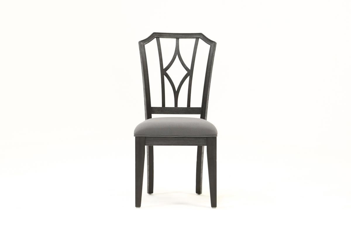 Inspiration about Living Spaces Throughout Current Caira Black Upholstered Diamond Back Side Chairs (#1 of 20)