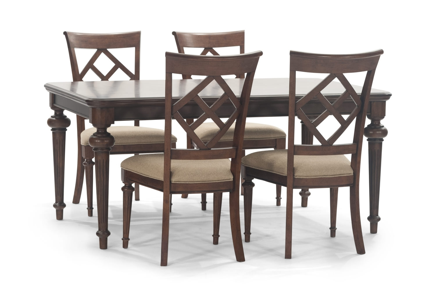 Logan Dining Table With 4 Side Chairs (#8 of 20)