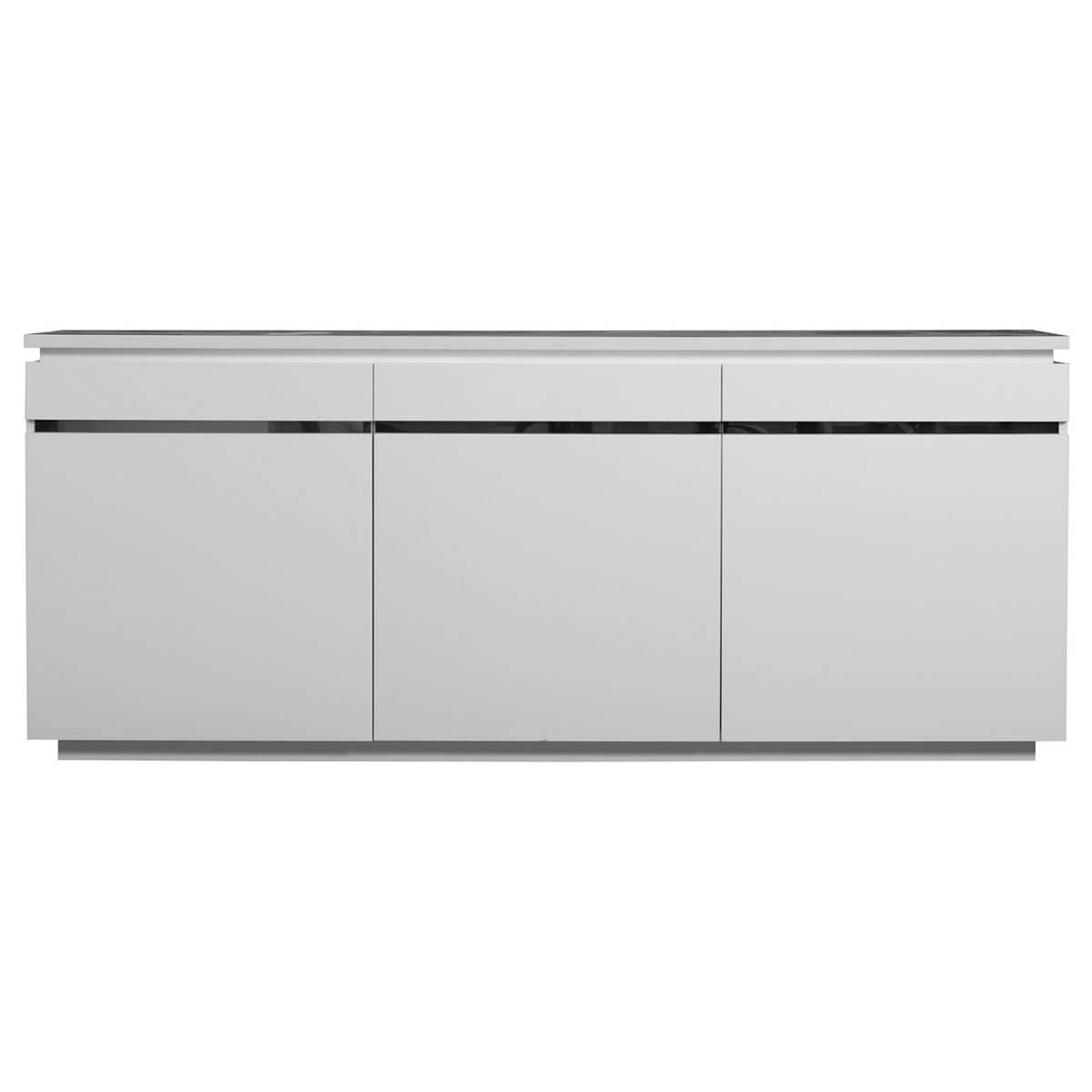 Inspiration about Logan Sideboard White High Gloss 3 Door With Lights | Sideboards | Fads In Newest Logan Sideboards (#3 of 20)