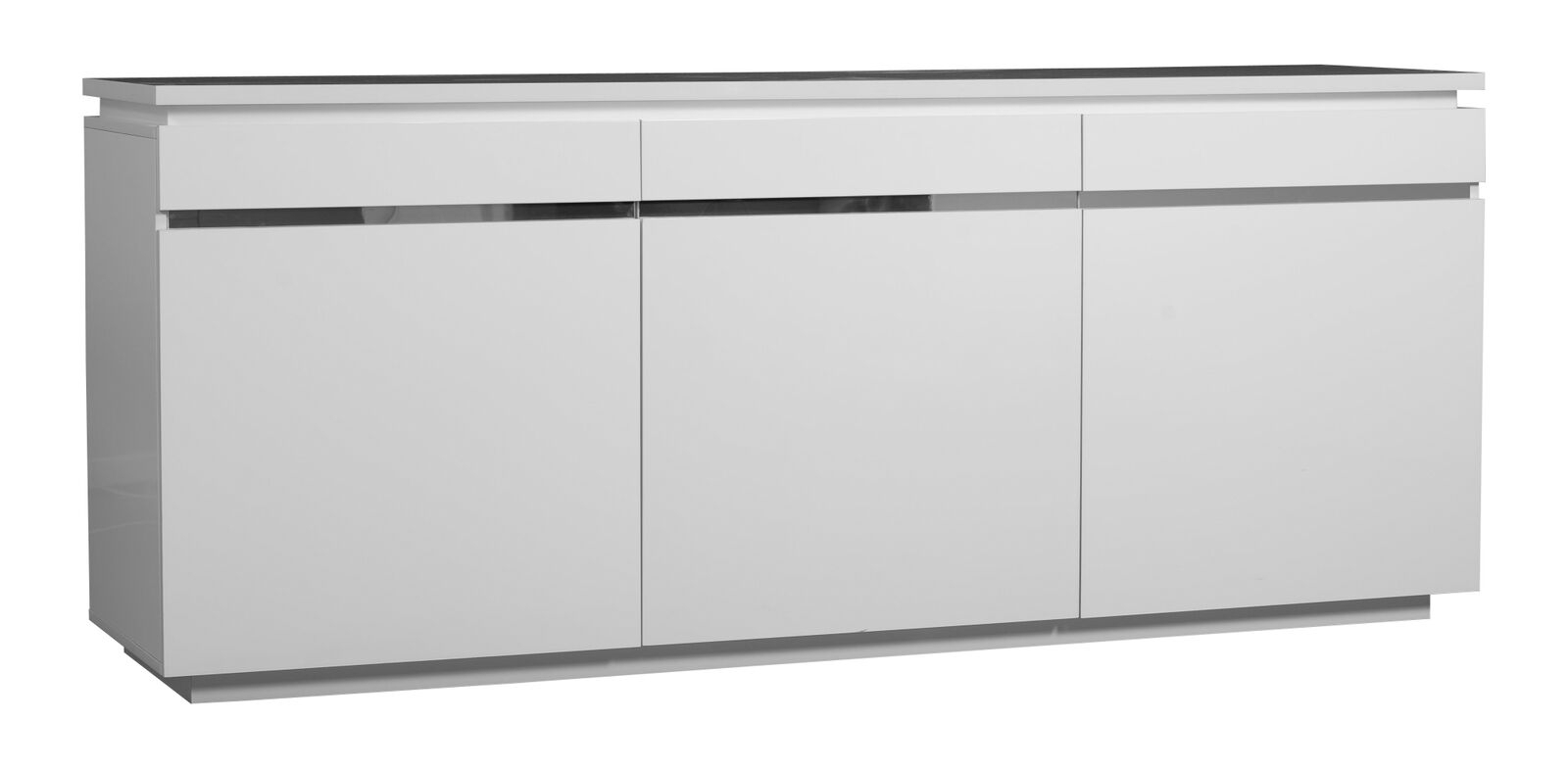 Inspiration about Logan Sideboard White High Gloss 3 Door With Lights | Sideboards | Fads Throughout Recent Logan Sideboards (#17 of 20)