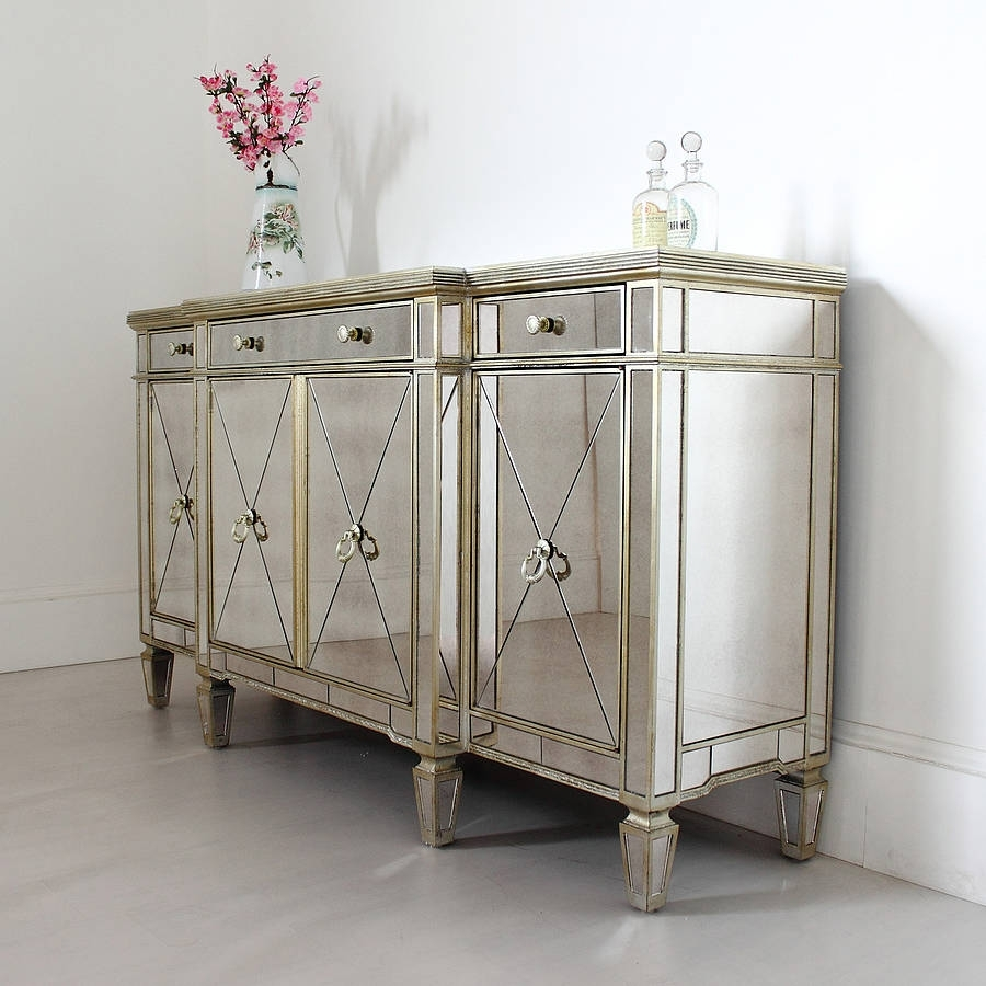Inspiration about Long Antique Mirrored Sideboardout There Interiors Within Most Popular Aged Mirrored 4 Door Sideboards (#7 of 20)