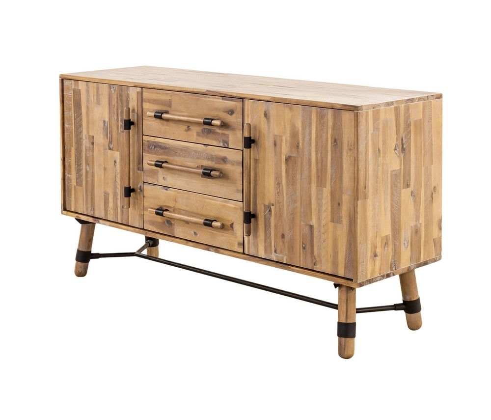 Long Hudson Sideboard | Collection And Products Regarding Most Popular Burnt Oak Bleached Pine Sideboards (View 4 of 20)