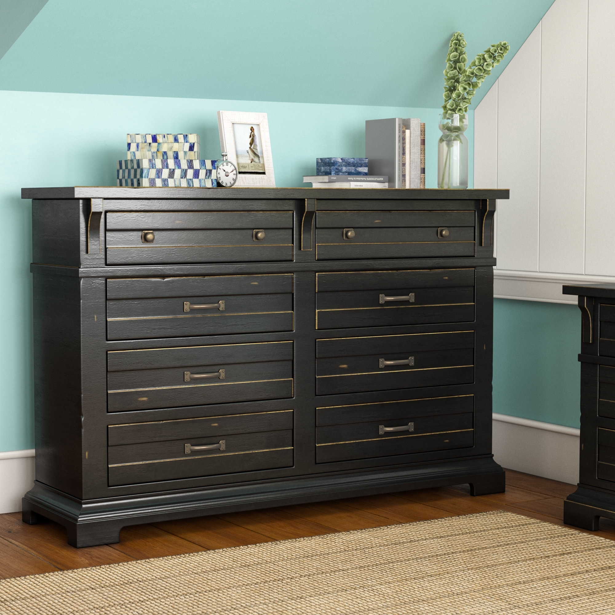 Inspiration about Longshore Tides Jenifry 8 Drawer Dresser & Reviews | Wayfair.ca Pertaining To 2018 Bale Rustic Grey Sideboards (#18 of 20)