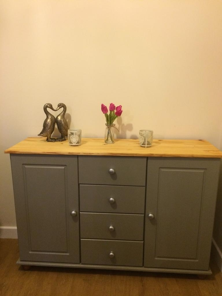 Inspiration about Lovely Hand Painted Pine Sideboard/ Tv Unit | In Stowmarket, Suffolk With Latest Leven Wine Sideboards (#7 of 20)