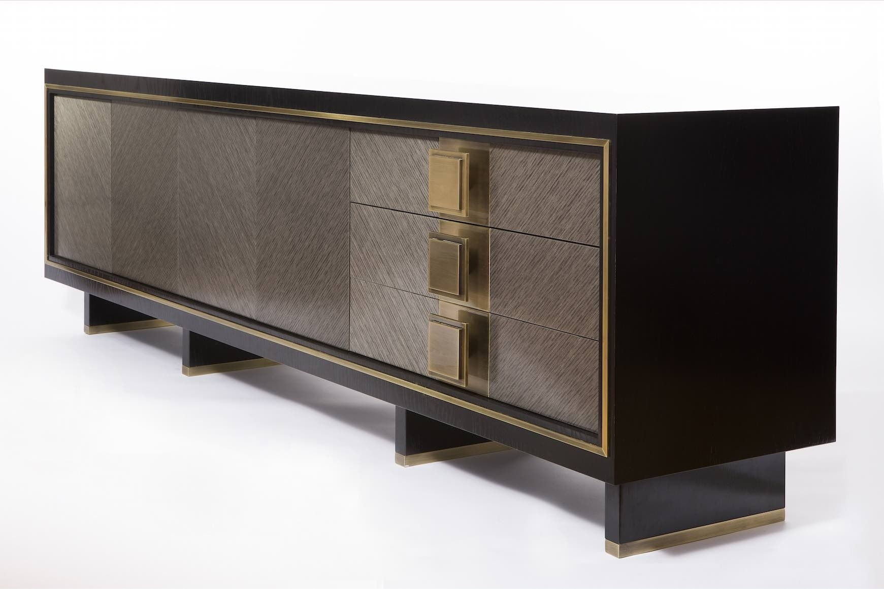 Inspiration about Luxury Sideboard. Grey And Dark Sideboard. Golden Details. Luxury In Most Recent Rani 4 Door Sideboards (#7 of 20)