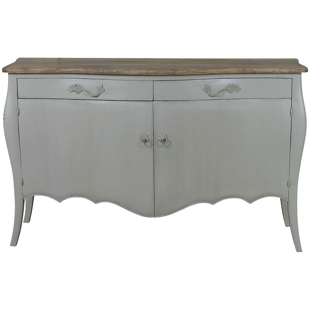 Lyon 2 Door French Sideboard | French Carved Sideboards | Shabby With Most Recently Released 2 Door Mirror Front Sideboards (View 10 of 20)