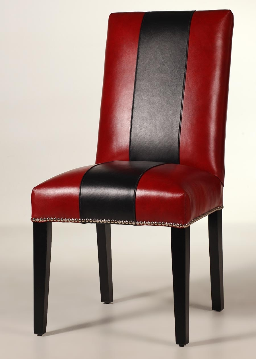 Macie Side Chairs Inside Latest Blackburn Leather Side Chair – Contemporary Dining Chair (#12 of 20)