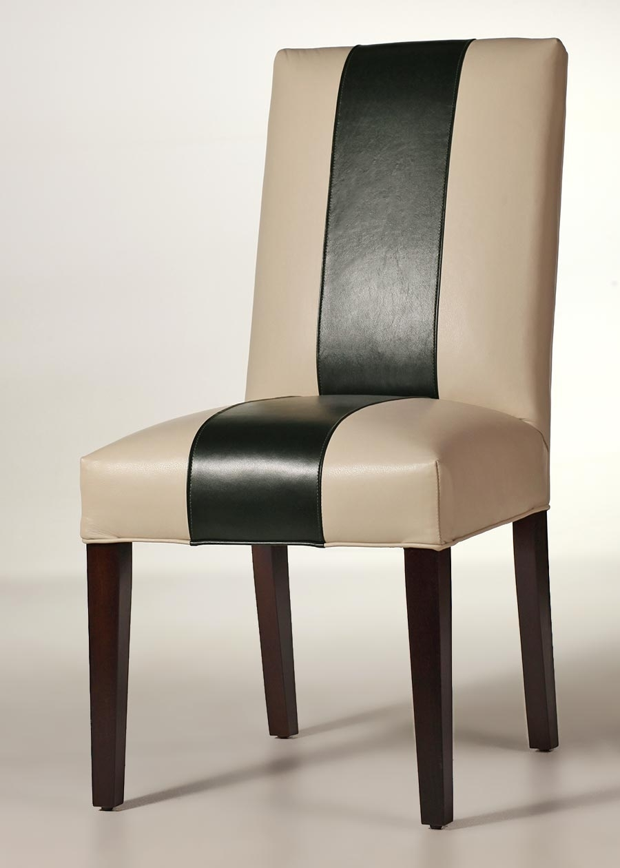 Macie Side Chairs Pertaining To Well Known Sussex Leather Side Chair – Contemporary Dining Chair (#13 of 20)