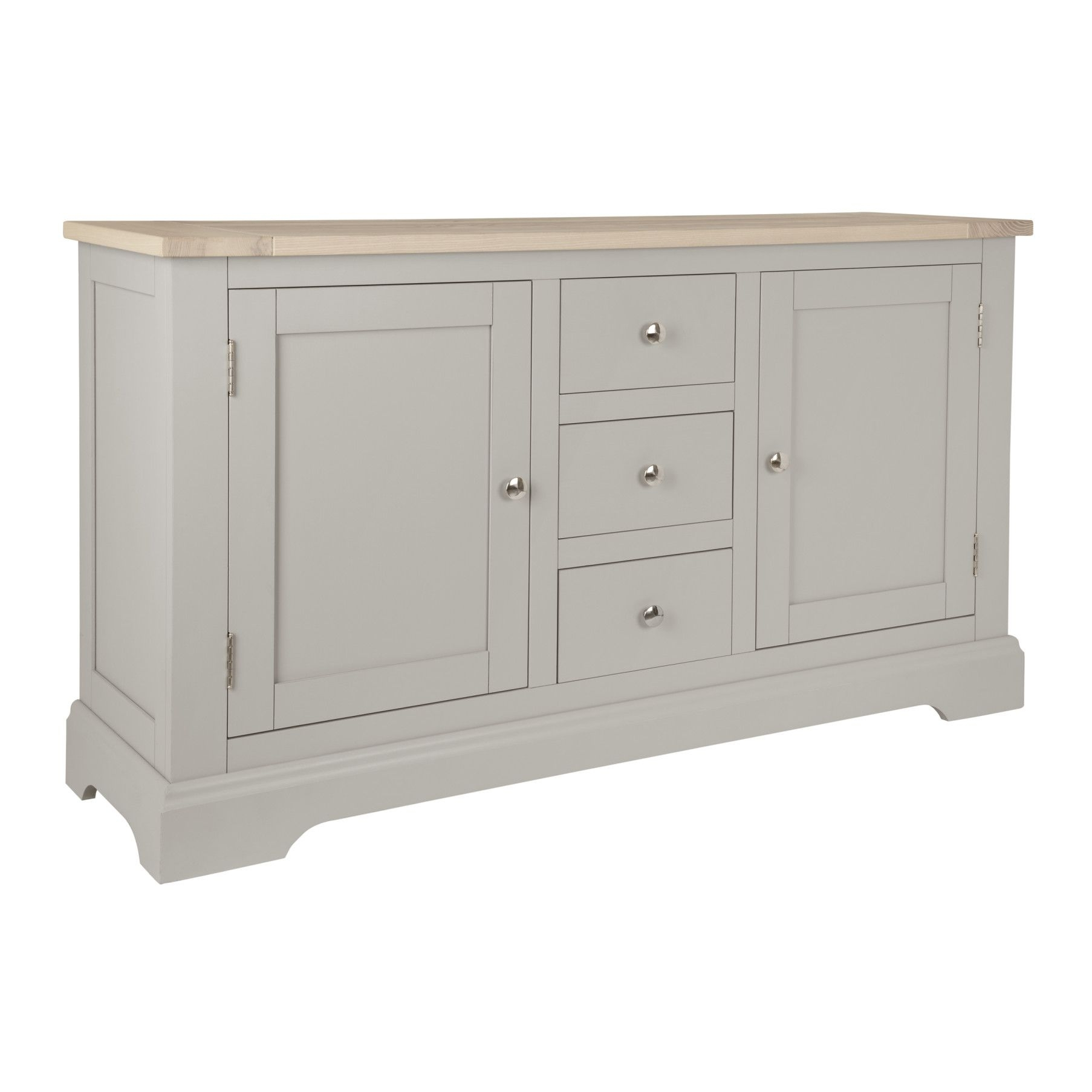 Inspiration about Made To Order Furniture – Dorset Pale French Grey 2 Door 3 Drawer Inside Most Current Oil Pale Finish 3 Door Sideboards (#1 of 20)