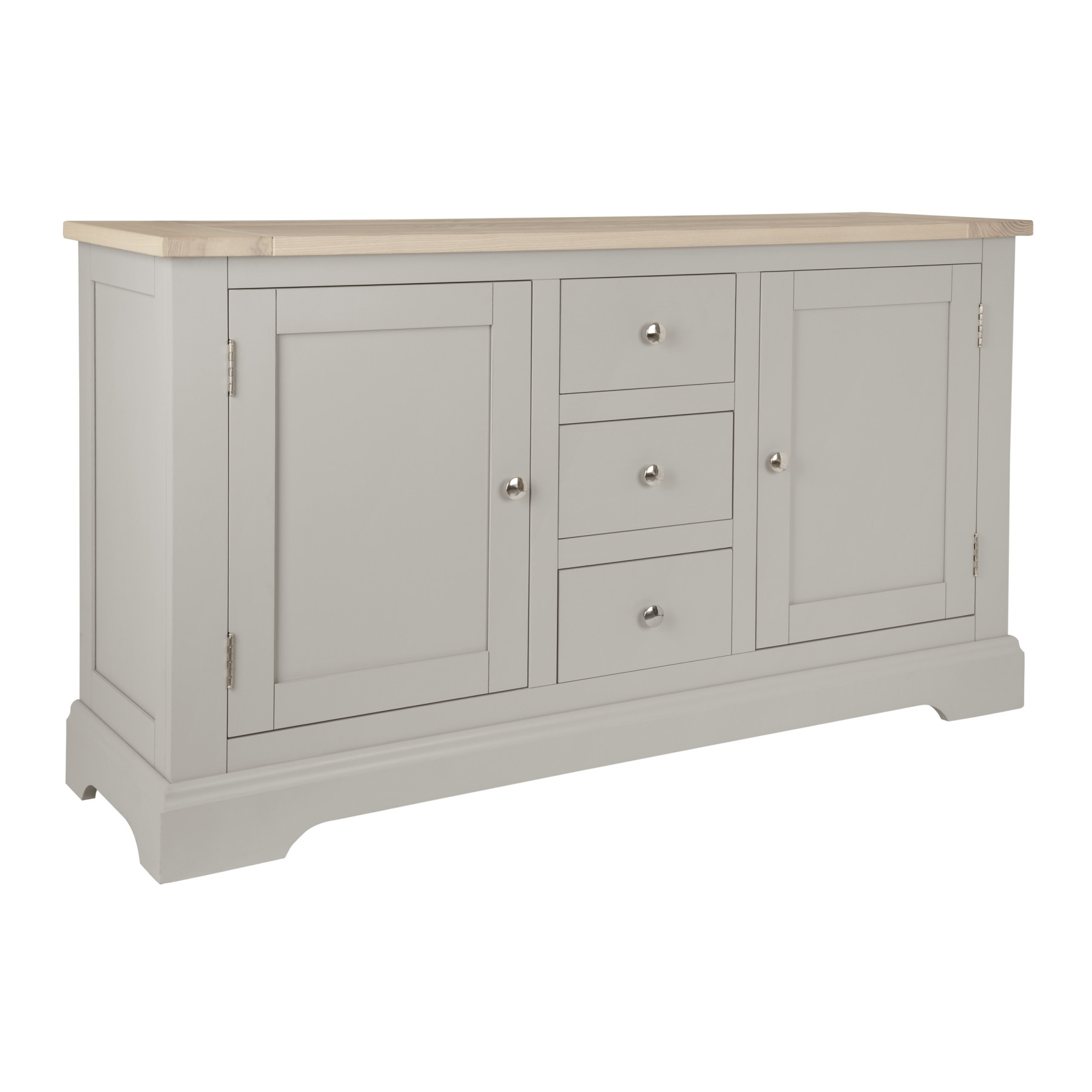 Made To Order Furniture – Dorset Pale French Grey 2 Door 3 Drawer Regarding Recent Antique White Distressed 3 Drawer/2 Door Sideboards (#13 of 20)