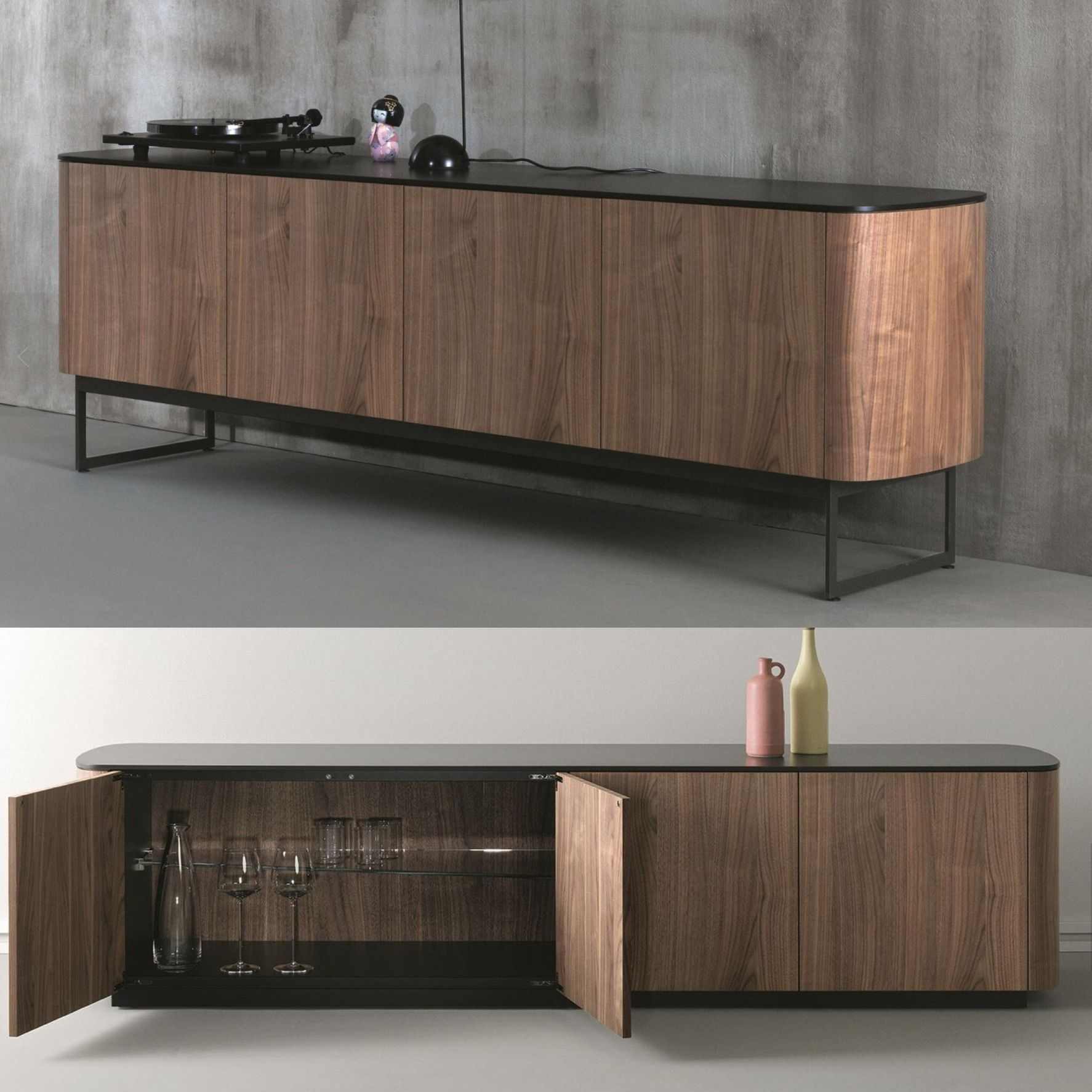 Inspiration about Madia In Legno Con Ante A Battente Designmonica Graffeo With Most Up To Date Rossi Large Sideboards (#6 of 20)