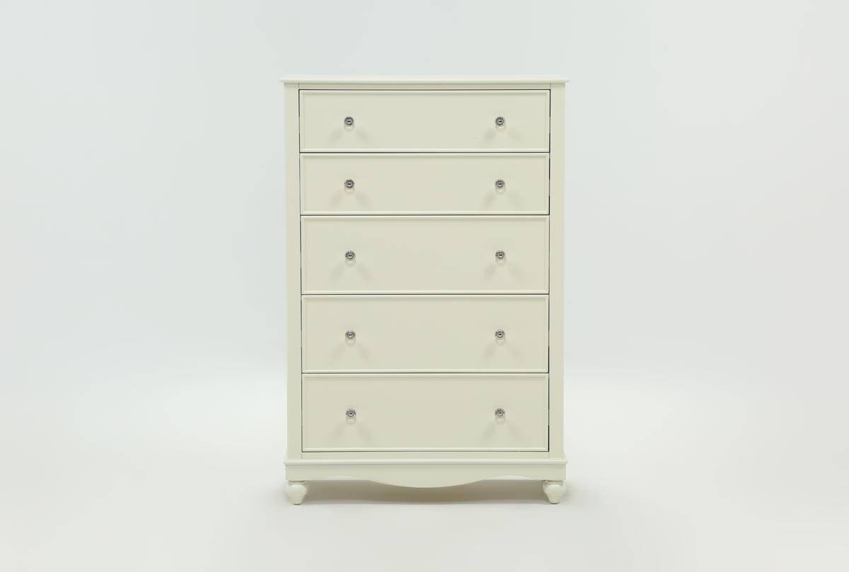 Inspiration about Madison White Chest Of Drawers | Living Spaces With Most Recent Marbled Axton Sideboards (#16 of 20)
