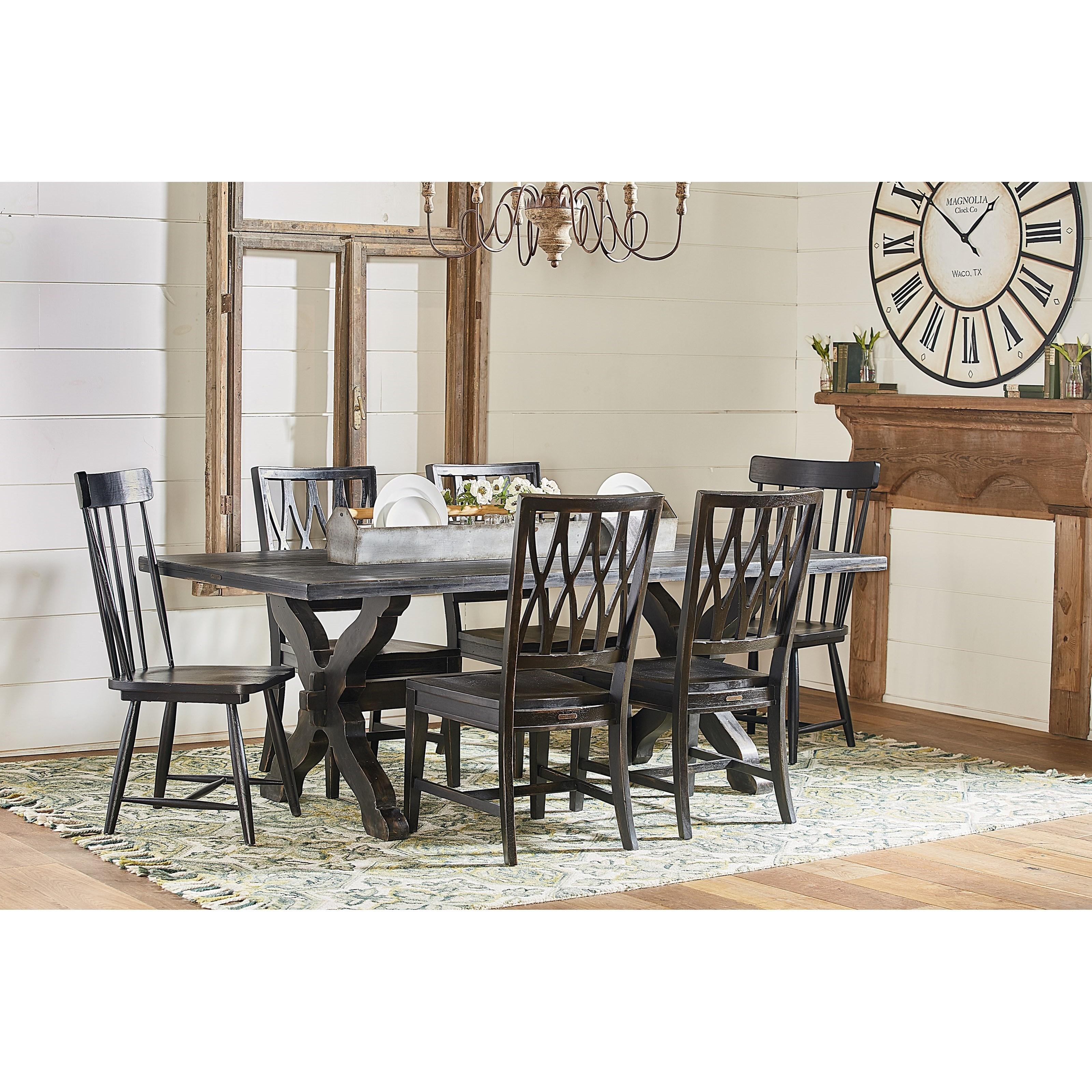Magnolia Home Camden Side Chairs Within Widely Used Sawbuck Dining Table Setmagnolia Homejoanna Gaines (View 13 of 20)