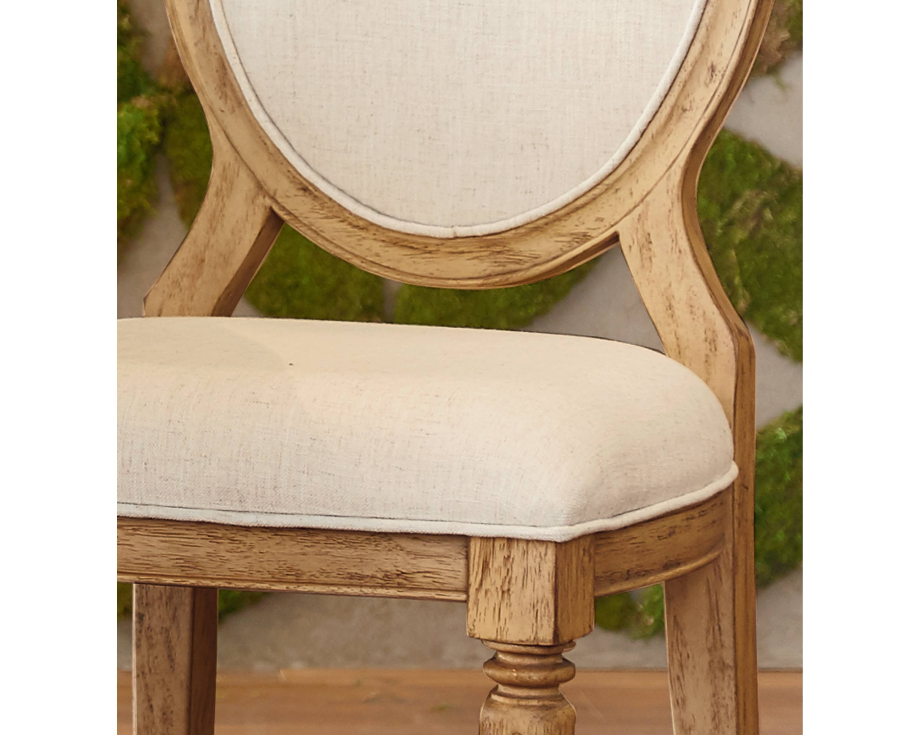 Magnolia Home Emery Ivory Burlap Side Chairs Inside Most Recently Released Emery Side Chair – Magnolia Home (View 2 of 20)