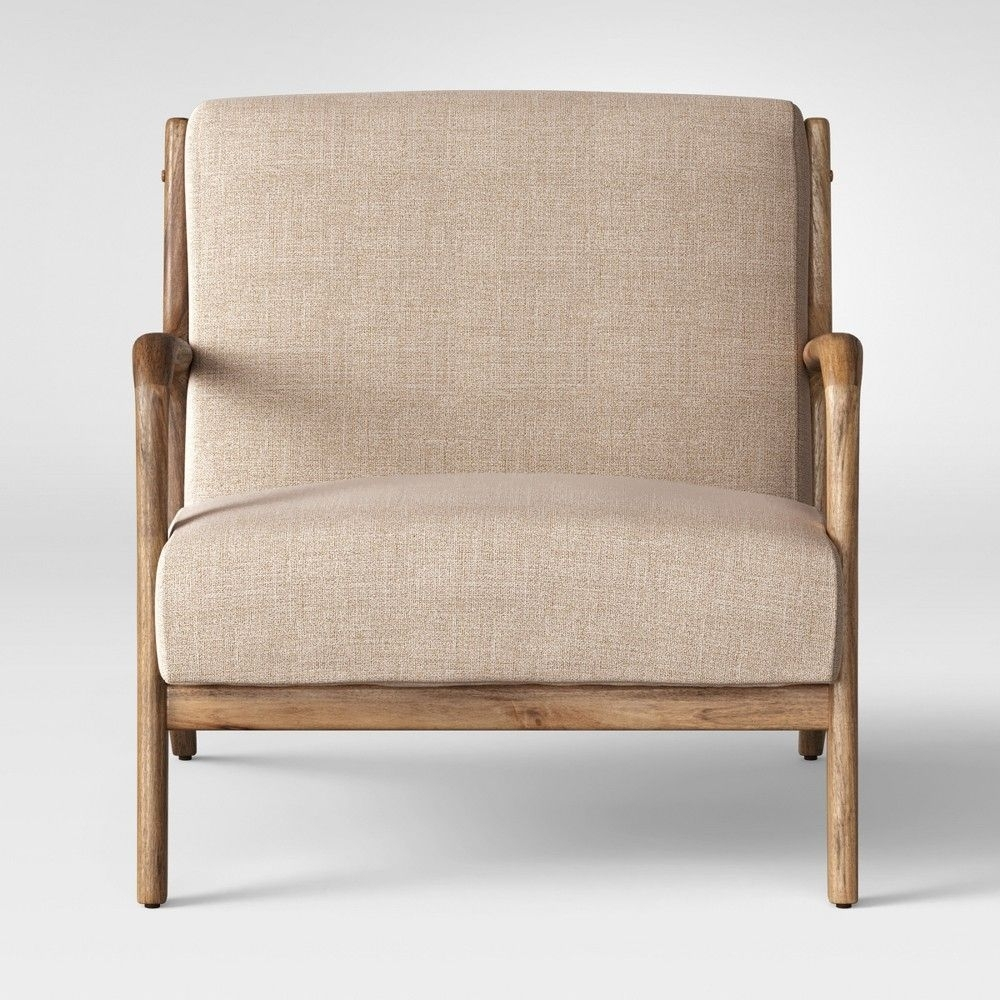 Inspiration about Magnolia Home Emery Ivory Burlap Side Chairs Throughout Well Liked Magnolia Home Fog Bloom Chair (#11 of 20)