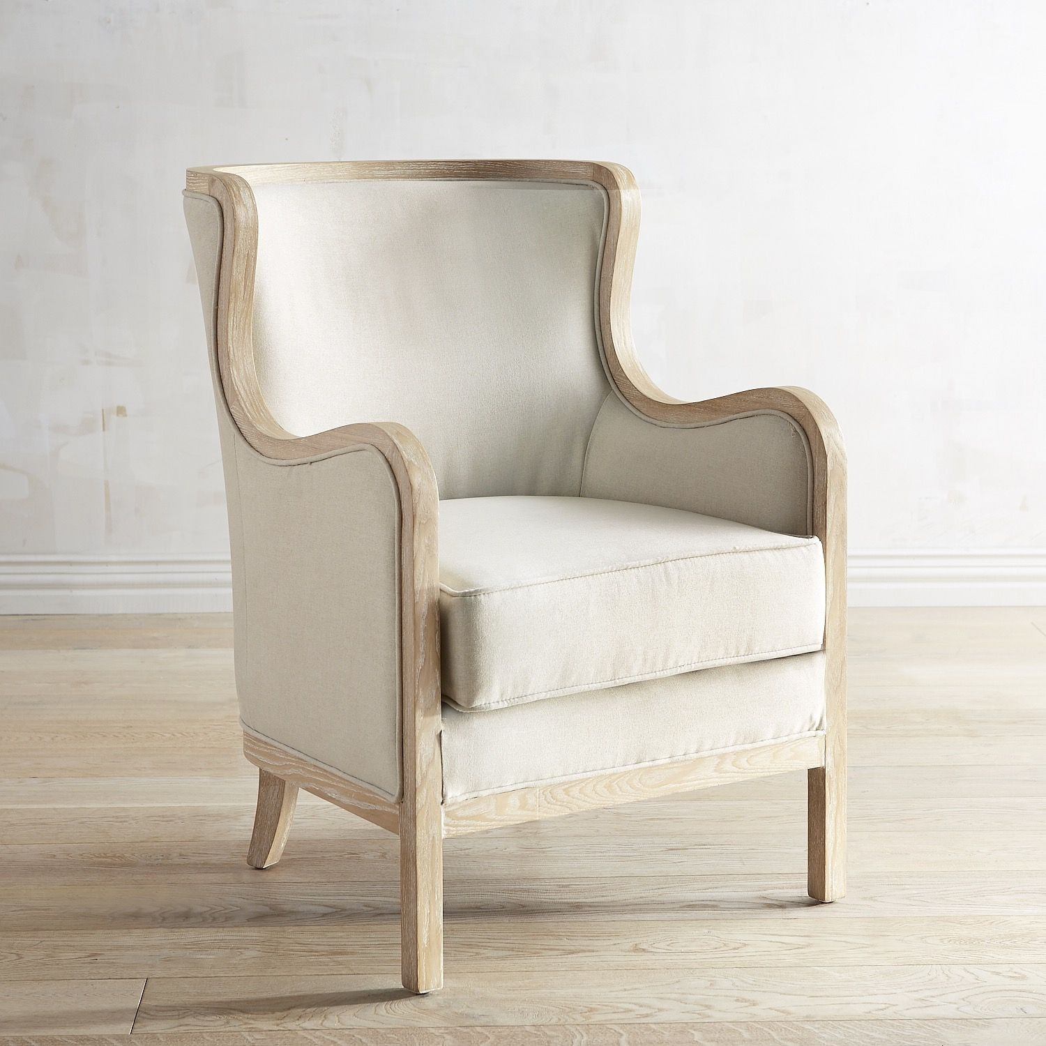 Inspiration about Magnolia Home Emery Ivory Burlap Side Chairs With Regard To 2018 Magnolia Home Fog Bloom Chair (#5 of 20)