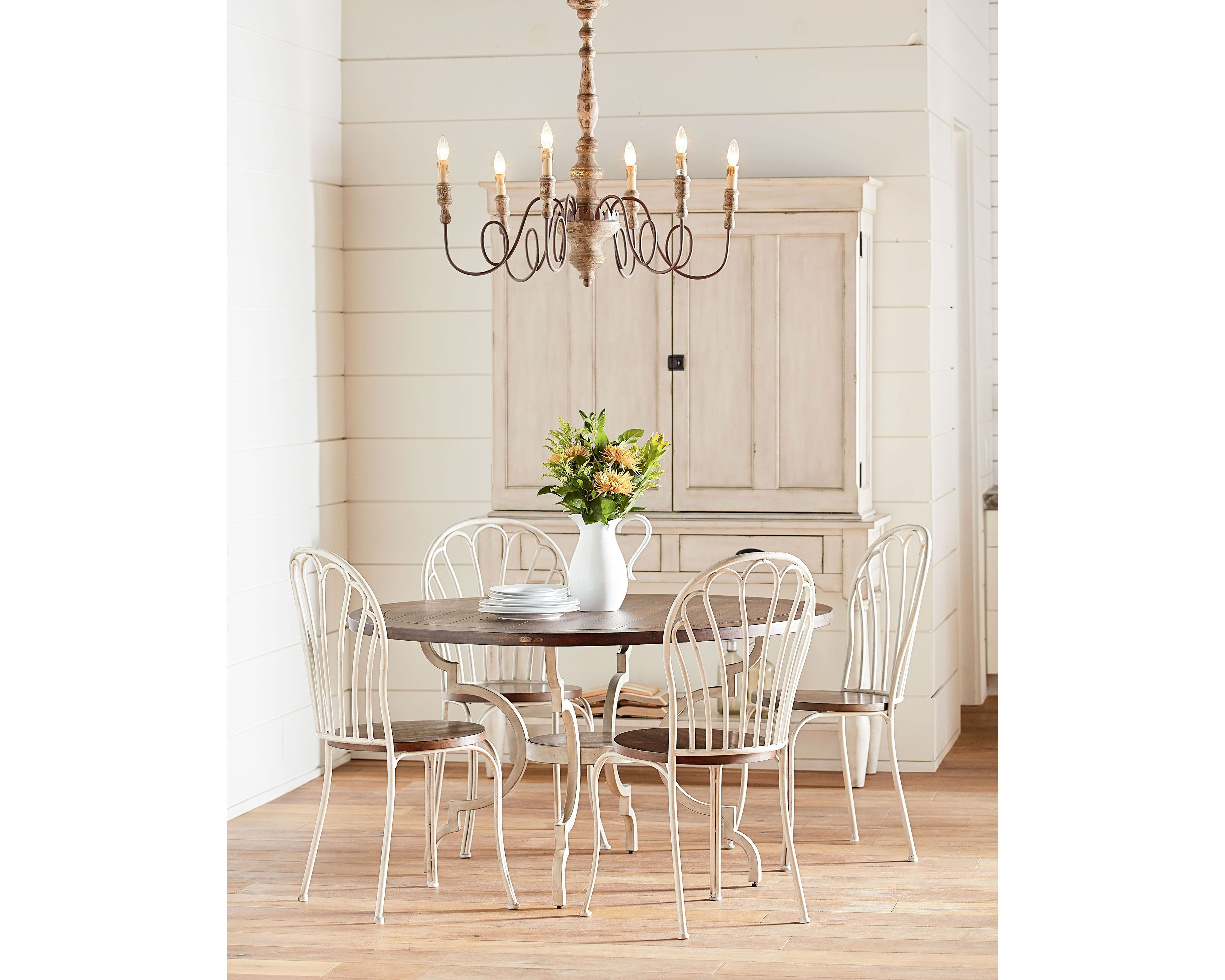 Inspiration about Magnolia Home Peacock Blackened Bronze Metal Side Chairs Pertaining To Most Popular Magnolia Home – French Inspired Breakfast Table (#6 of 20)