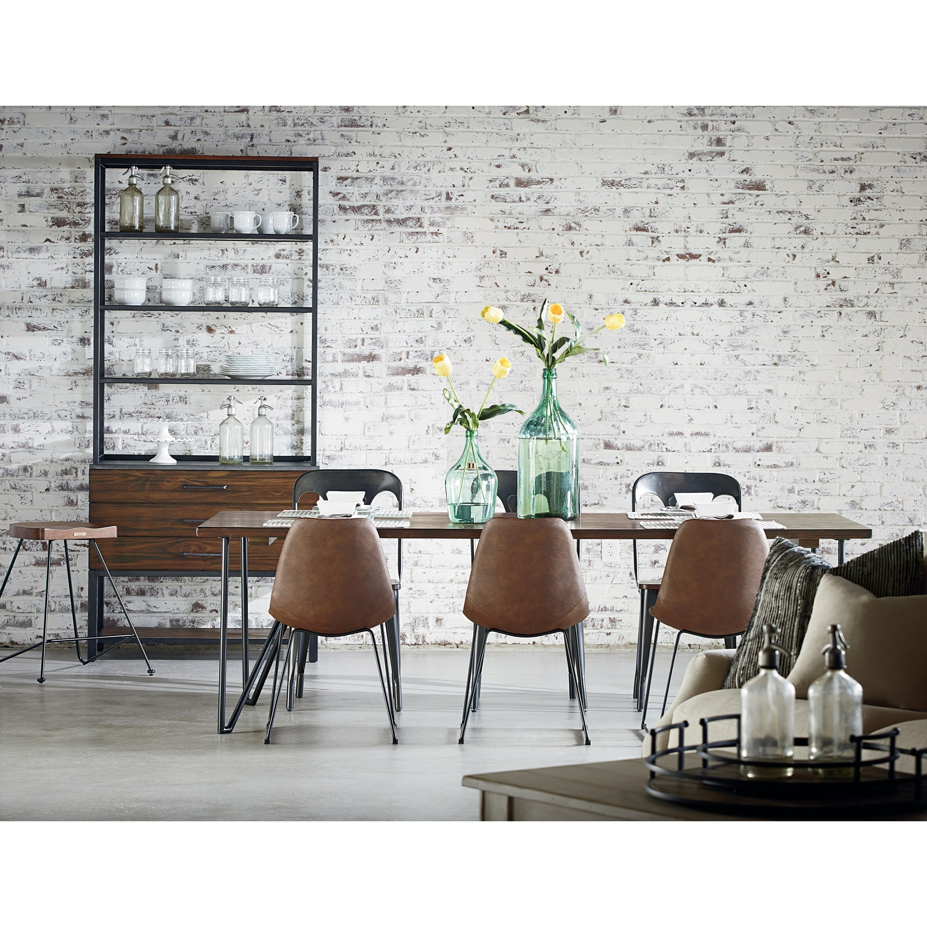 Magnolia Homejoanna Gaines Boho Dining Room With Molded Shell Pertaining To Recent Magnolia Home Molded Shell Saddle Side Chairs (#9 of 20)