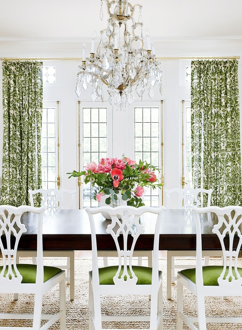 Inspiration about Mandy Paper White Side Chairs With Best And Newest A Popping Palette Offers A Fresh Look To A Traditional Home In 2018 (#10 of 20)