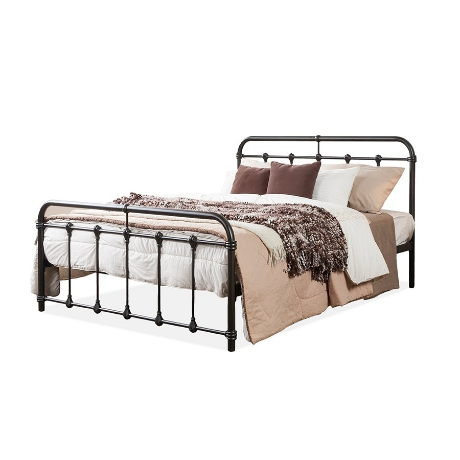 Inspiration about Mandy Vintage Industrial Black Finished Metal Full Size Platform Bed Pertaining To Well Known Mandy Paper White Side Chairs (#18 of 20)