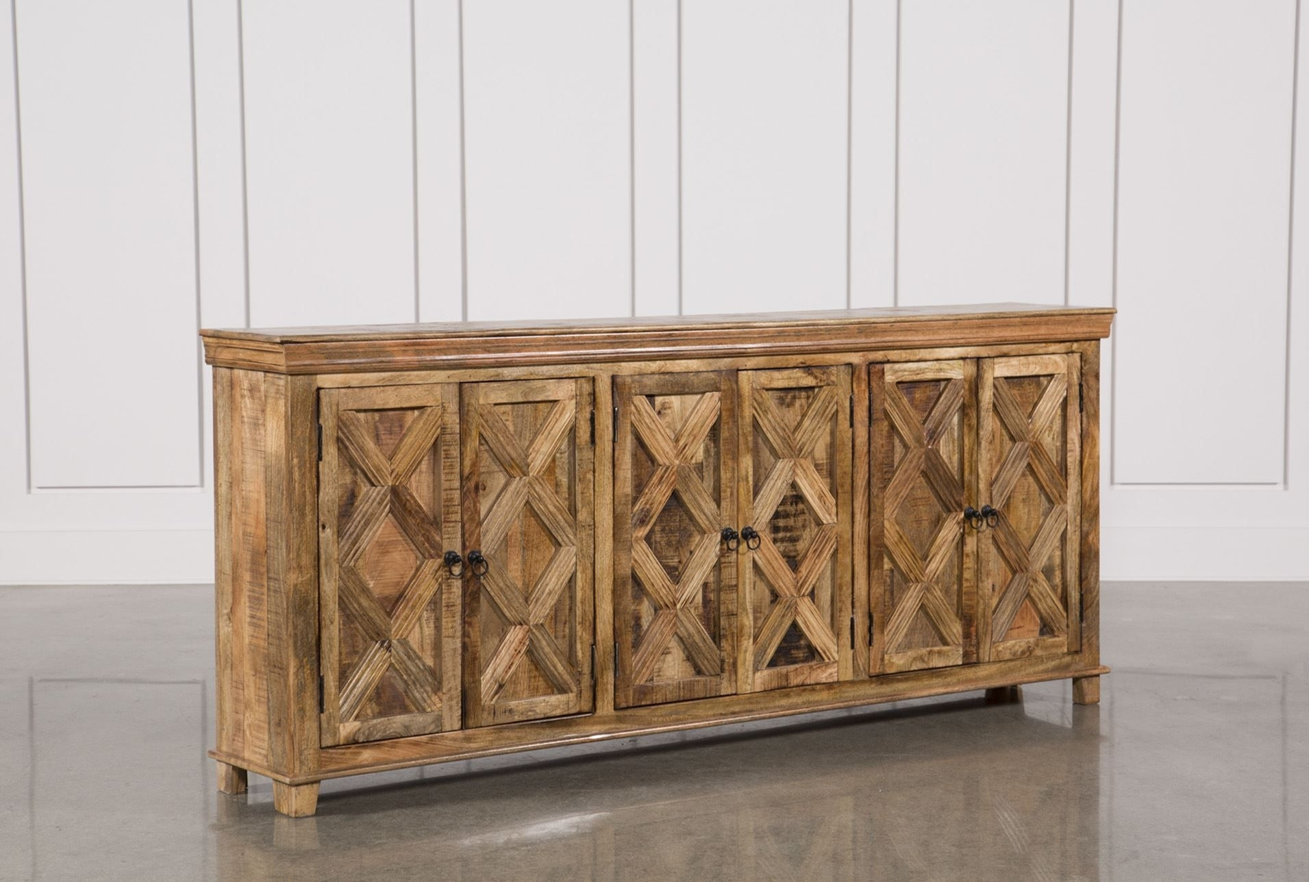 Mango Wood Tan Finish 6 Door Sideboard | Doors, Woods And Living Rooms Intended For Newest Reclaimed Pine Turquoise 4 Door Sideboards (View 7 of 20)