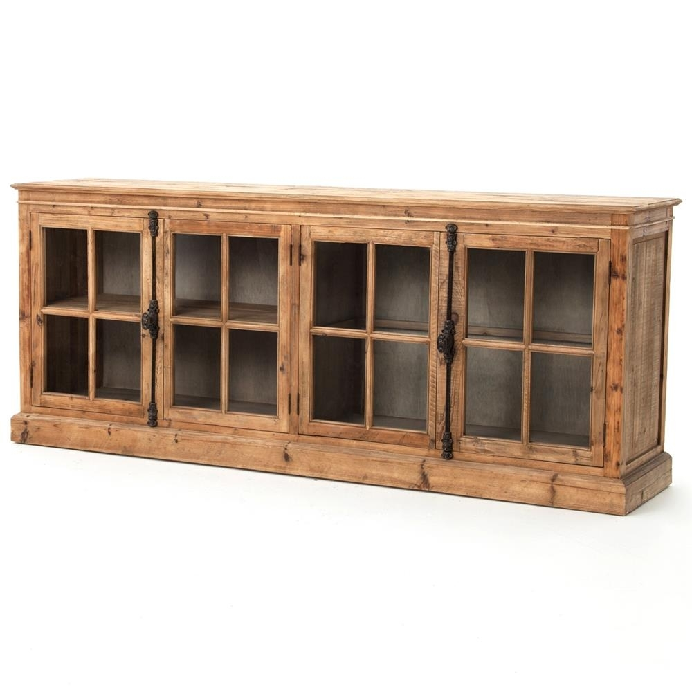 Inspiration about Marin French Country Reclaimed Pine Sideboard Cabinet | Kathy Kuo Home Throughout Recent Reclaimed Pine & Iron 72 Inch Sideboards (#15 of 20)