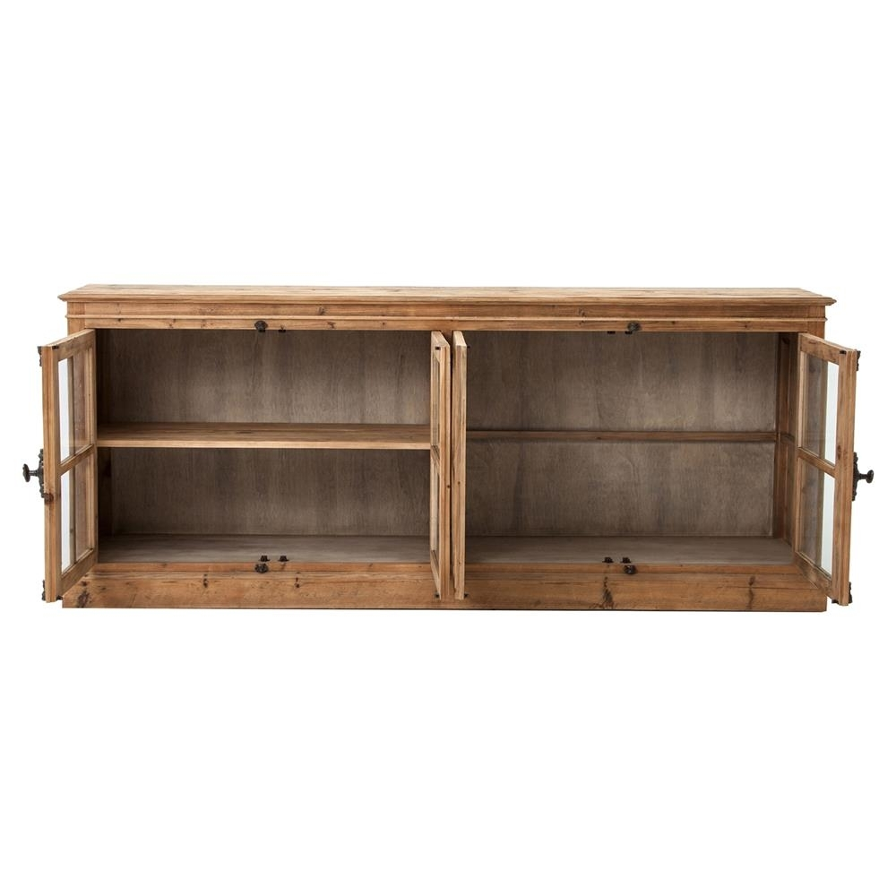 Inspiration about Marin French Country Reclaimed Pine Sideboard Cabinet | Kathy Kuo Home With 2017 Reclaimed Pine & Iron 72 Inch Sideboards (#13 of 20)
