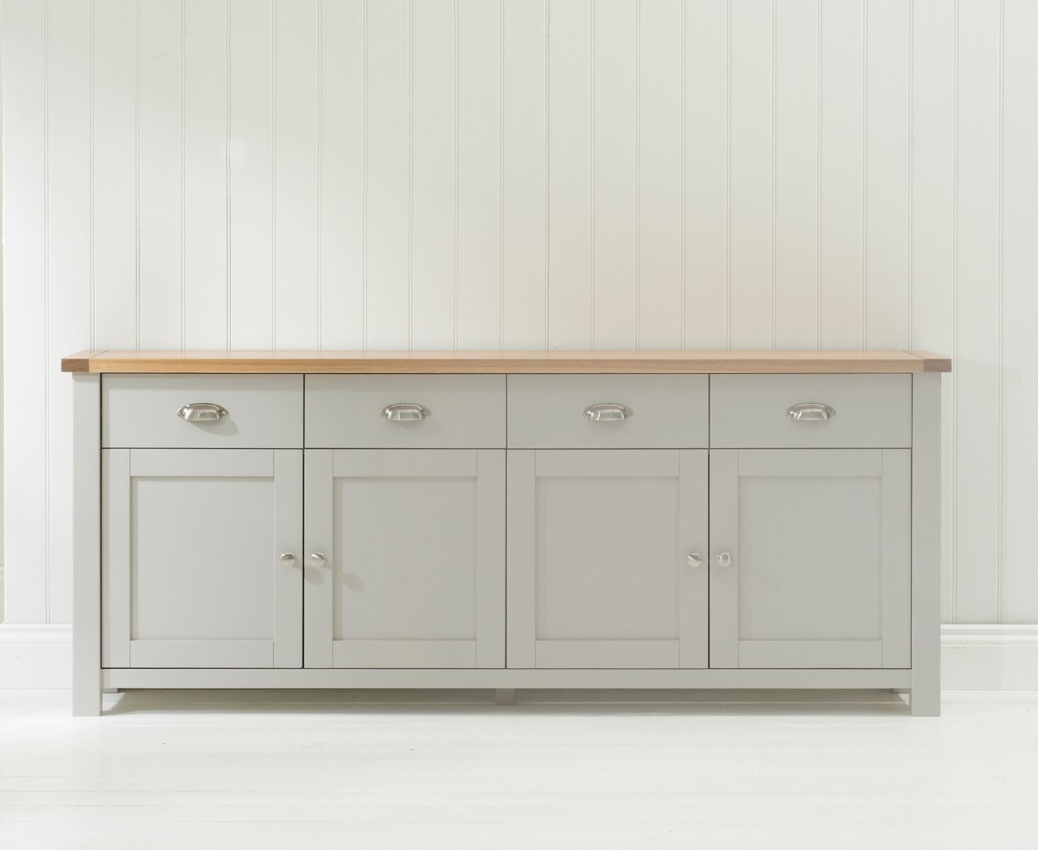 Inspiration about Mark Harris Sandringham Oak & Grey Sideboard Xl | Up To 40% Sales Now On With Regard To 2017 Rani 4 Door Sideboards (#2 of 20)