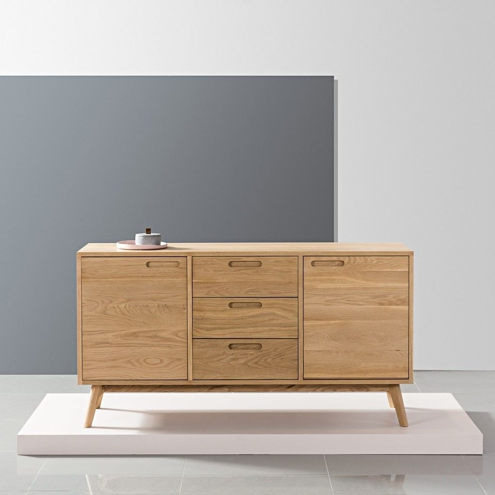 Inspiration about Maximus Sideboard – Solid Oak – 150X45X80Cm – Angled Legs | Solid Pertaining To Recent Tobias 4 Door Sideboards (#5 of 20)
