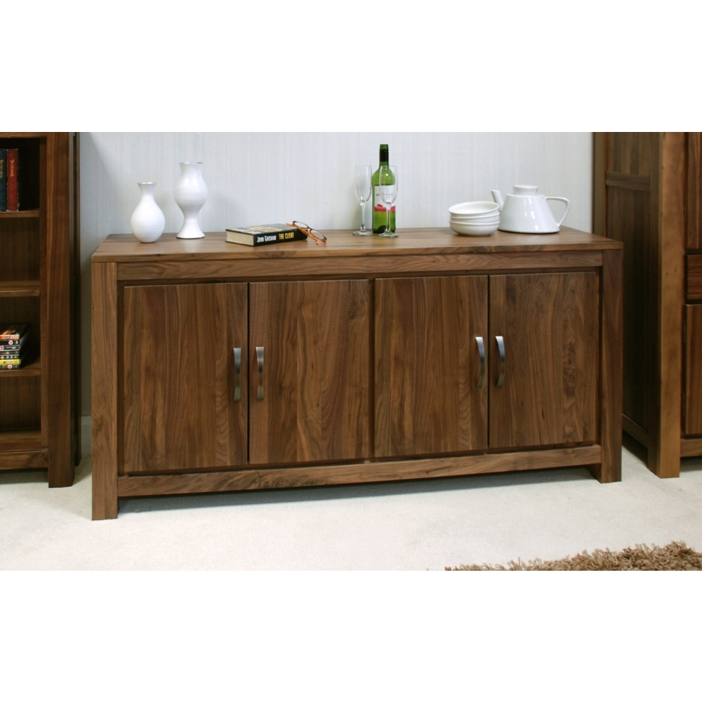 Inspiration about Mayan Large Low Living Dining Room Sideboard Solid Walnut Dark Wood Throughout Recent Walnut Finish 4 Door Sideboards (#13 of 20)