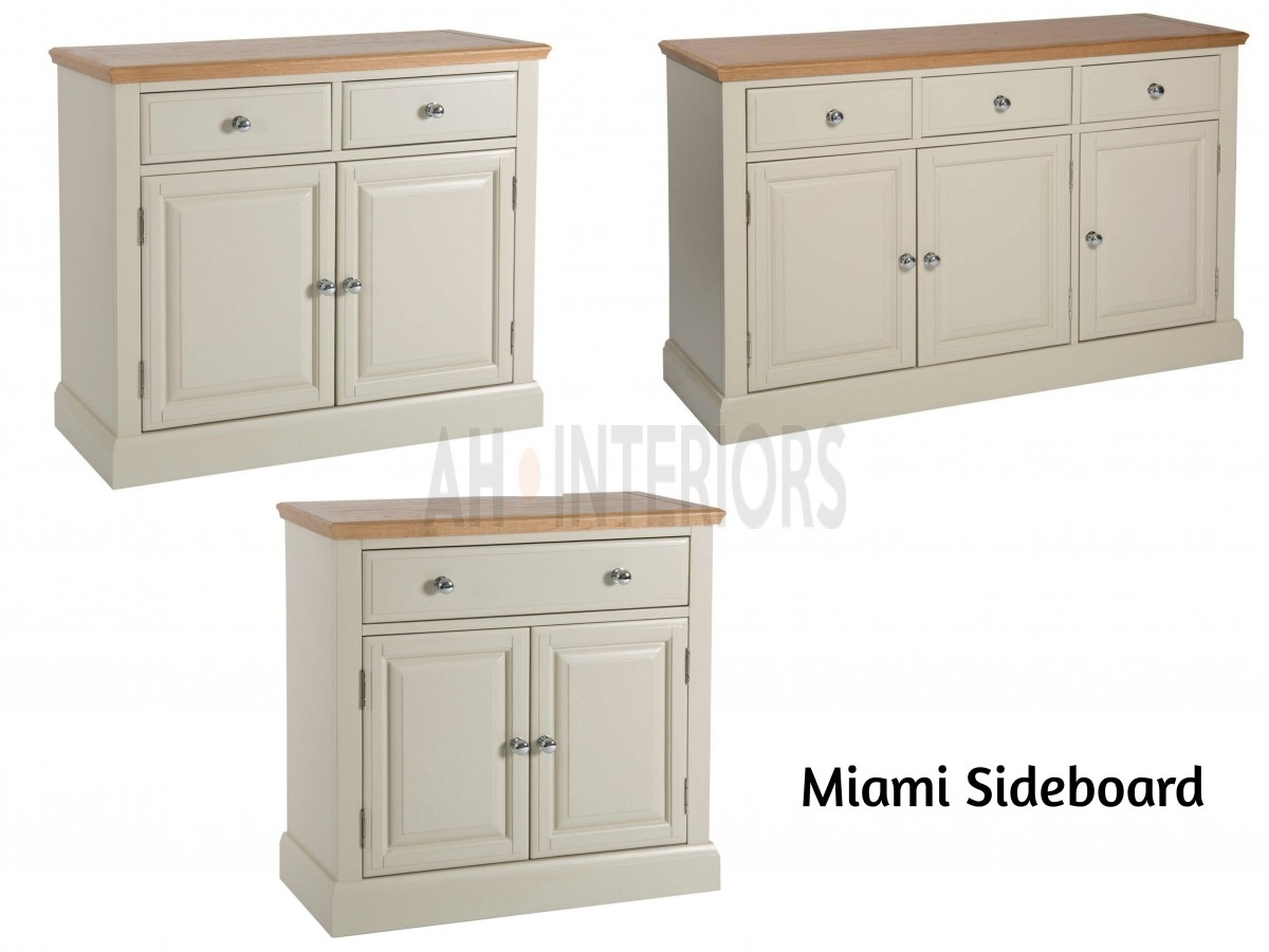 Inspiration about Miami Range – Painted Oak 2 Mini Small Big Sideboard Throughout Latest 3 Drawer/2 Door White Wash Sideboards (#20 of 20)