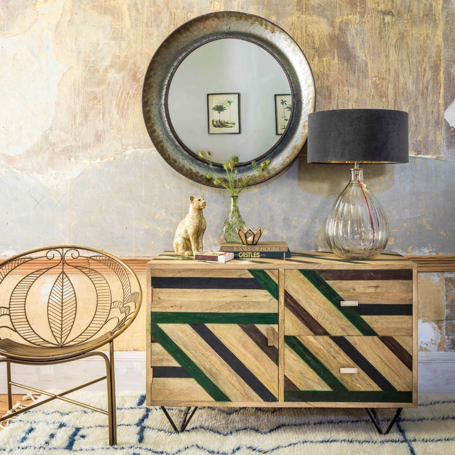 Inspiration about Micah Parquet Sideboard | Graham & Green Regarding Latest Parquet Sideboards (#15 of 20)