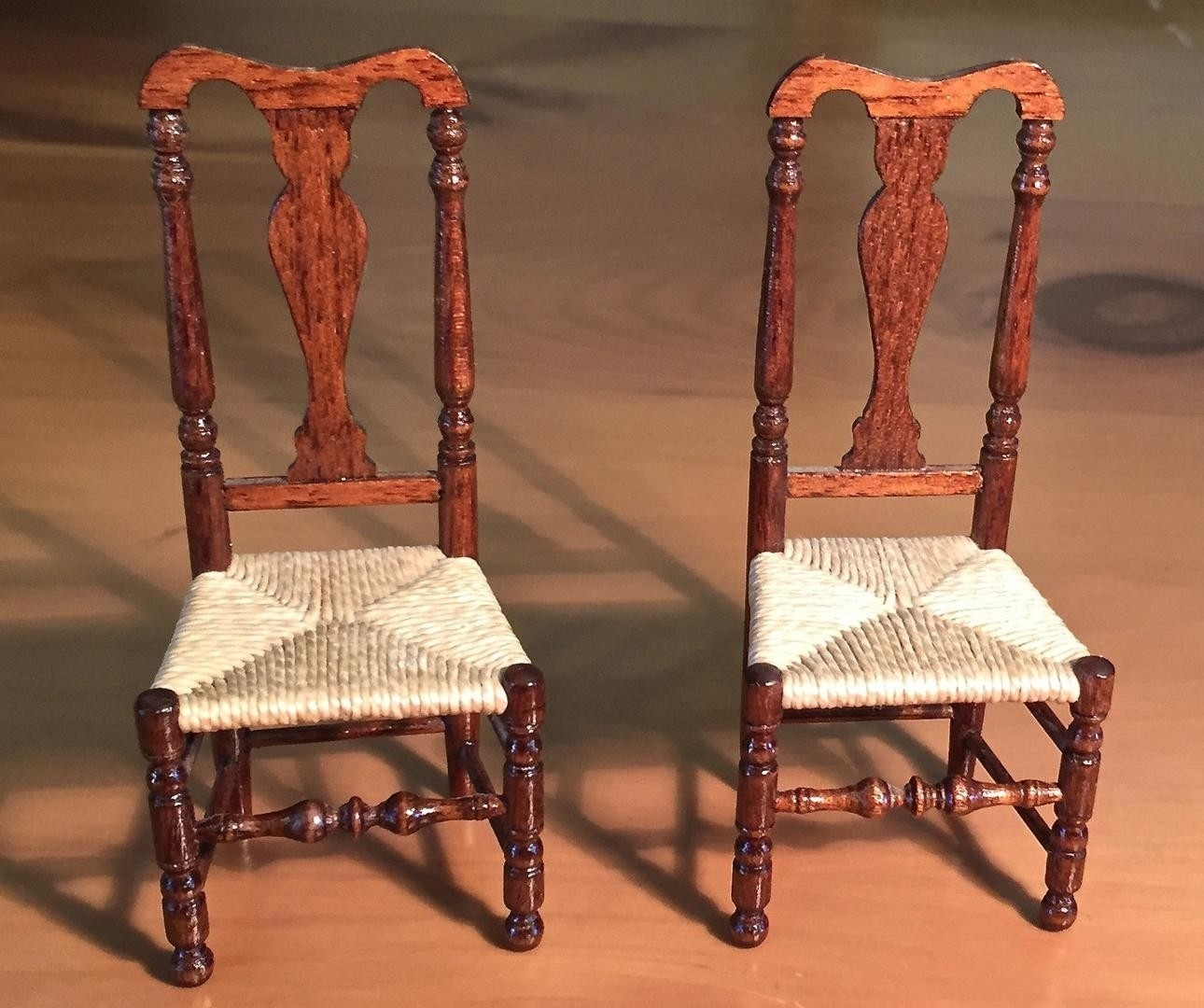 Inspiration about Miniature Gerald Crawford American Queen Anne Rush Seat Side Chairs Throughout Latest Crawford Side Chairs (#16 of 20)