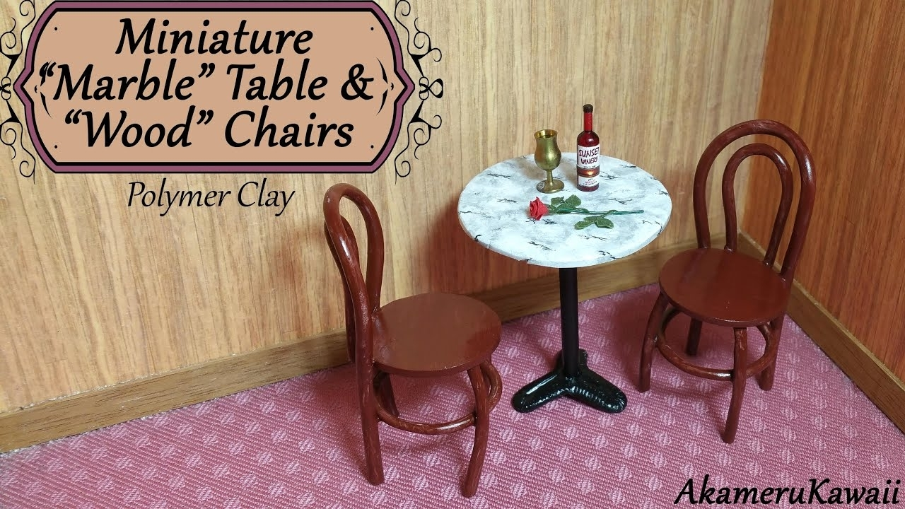 Miniature Marble Table & Chairs – Polymer Clay Tutorial – Youtube Intended For Well Known Clay Side Chairs (#9 of 20)
