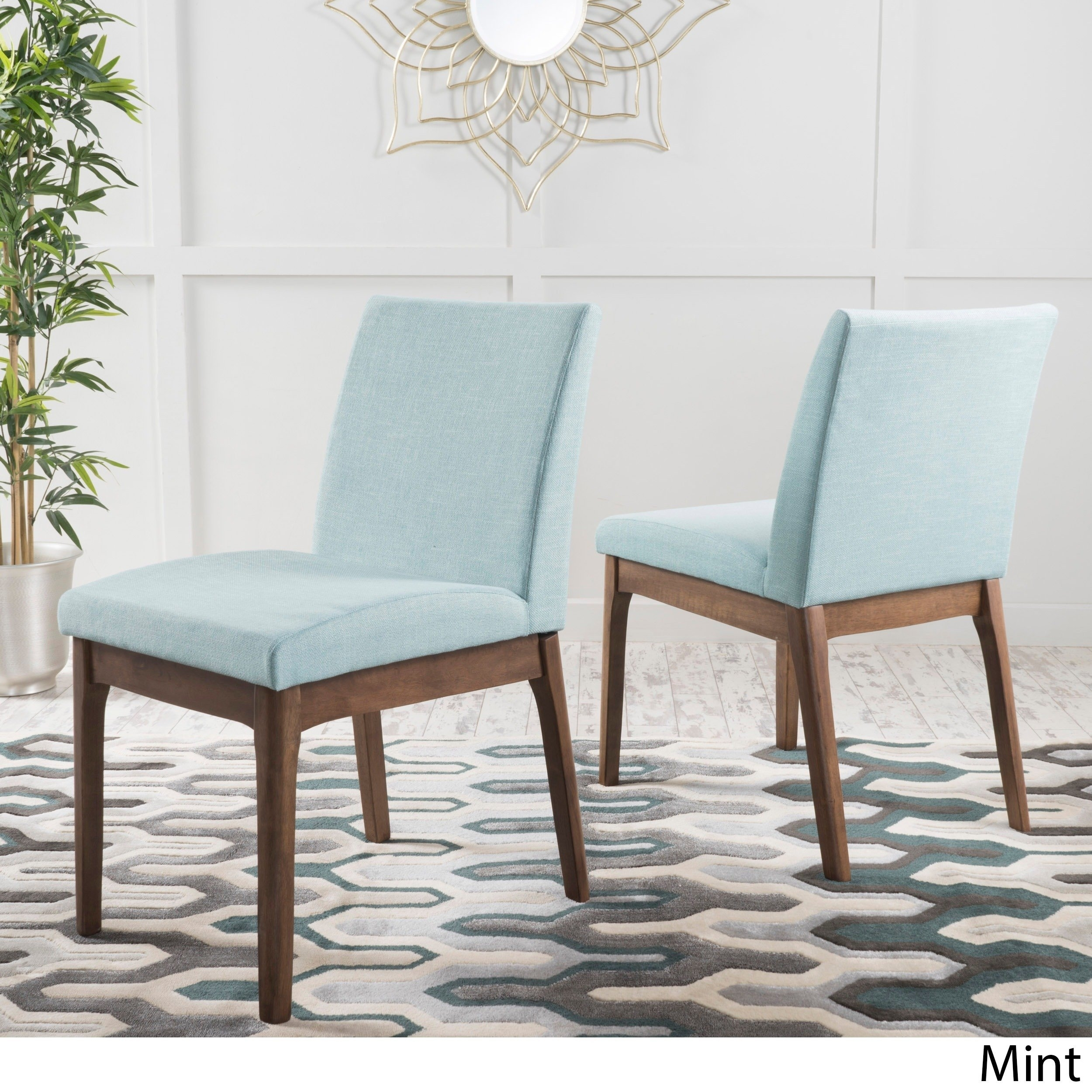 Mint Blue At Overstock Throughout Most Up To Date Garten Pashmina Skirted Side Chairs Set Of  (#13 of 20)
