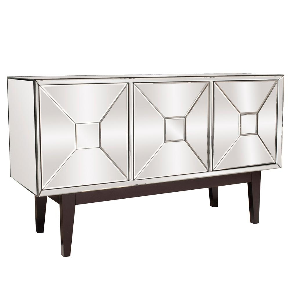 Inspiration about Mirrored Buffet Cabinet With Three Doors 68086 – The Home Depot Pertaining To Most Current 2 Door Mirror Front Sideboards (#9 of 20)