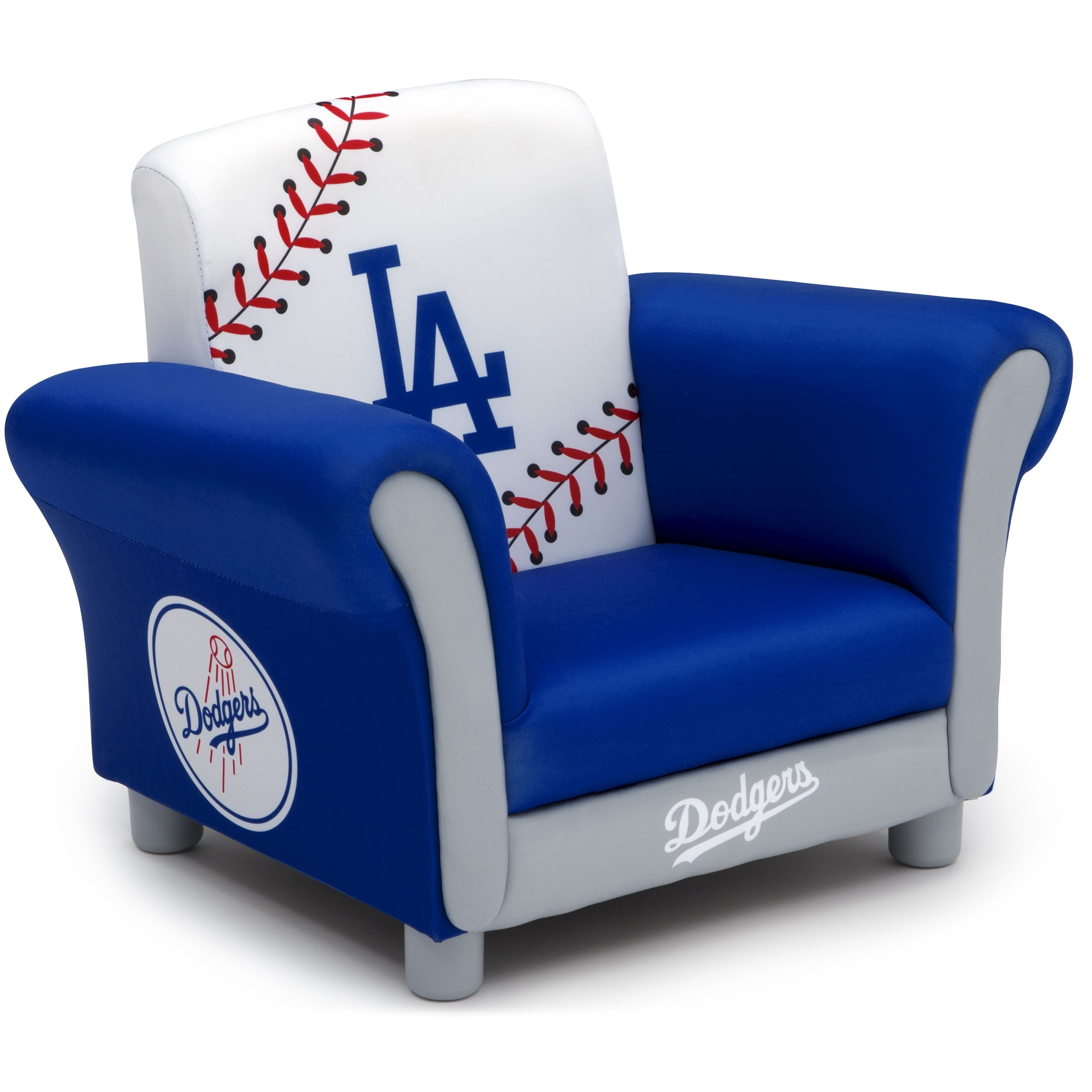 Mlb Los Angeles Dodgers Kids Upholstered Chairdelta Children With Famous Dodger Side Chairs (#10 of 20)