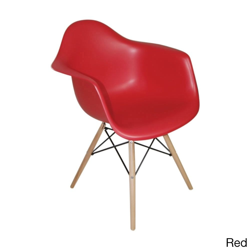 Inspiration about Mod Made Paris Tower Arm Chair Wood Leg (Set Of 2) (Chocolate Inside Well Liked Mod Ii Arm Chairs (#1 of 20)
