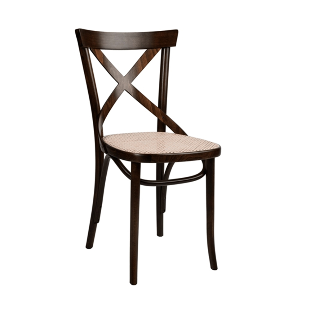 Inspiration about Moda Blue Side Chairs Throughout Best And Newest Bentwood X Back Solid Beech Wood Indoor Restaurant Side Chair At (#15 of 20)