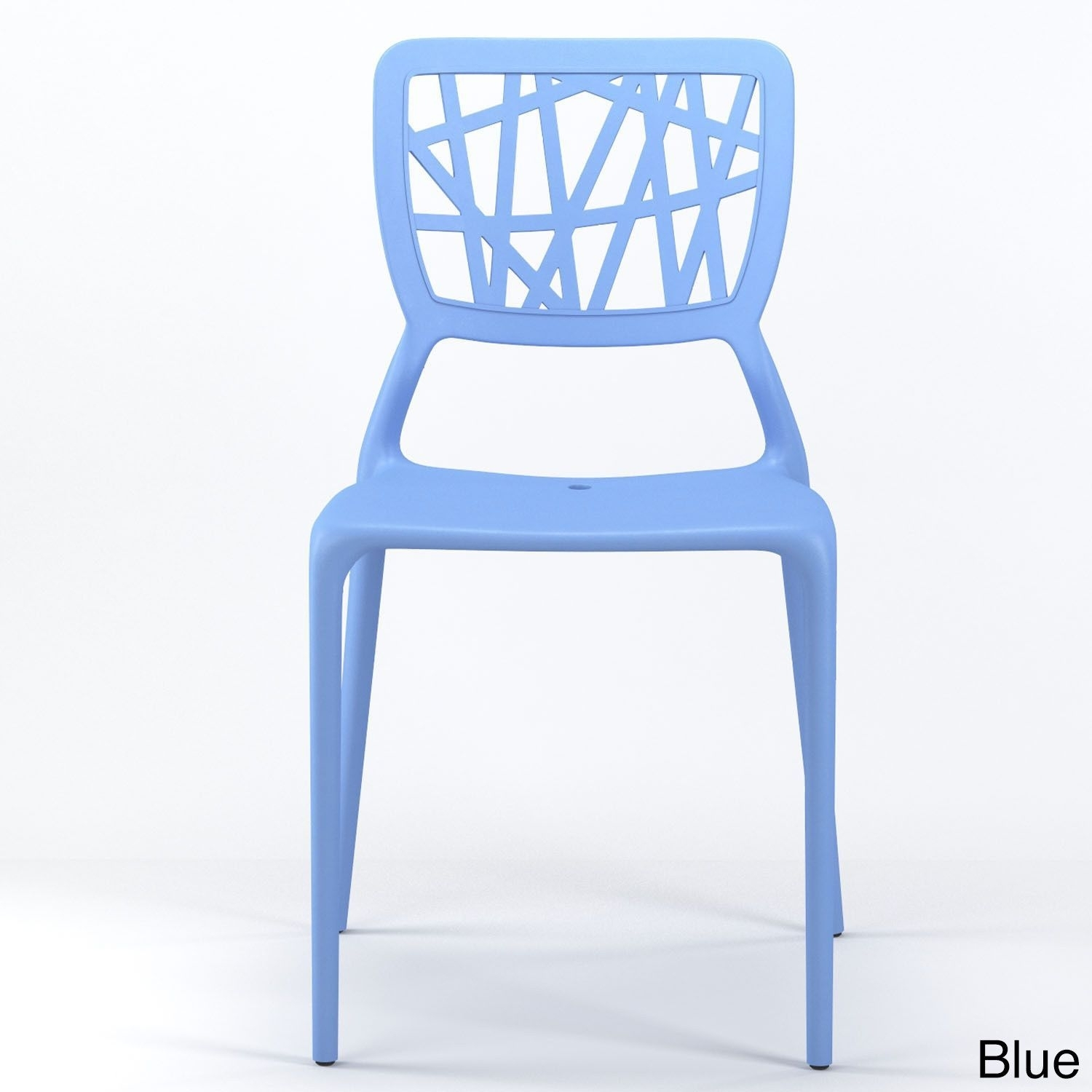 Moda Gibson Living Verdant Stackable Dining Side Chair (Blue), Patio Intended For Recent Moda Blue Side Chairs (View 12 of 20)