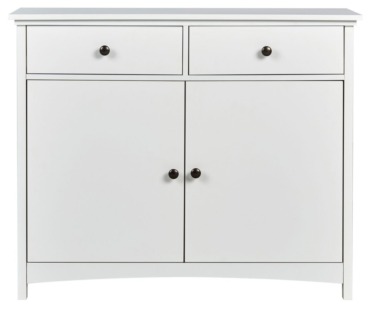 Modern Large 2 Door 2 Drawer Sideboard White Cupboard Tv Cabinet Pertaining To Current 2 Drawer Sideboards (#10 of 20)