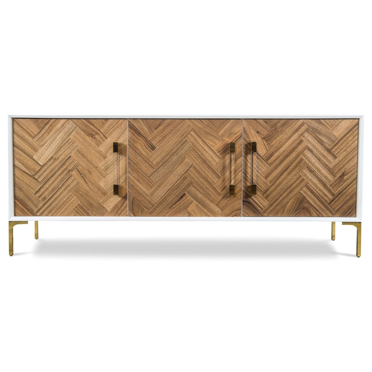 Inspiration about Modshop Amalfi Sideboard | Wayfair Throughout 2017 Walnut Finish 4 Door Sideboards (#15 of 20)