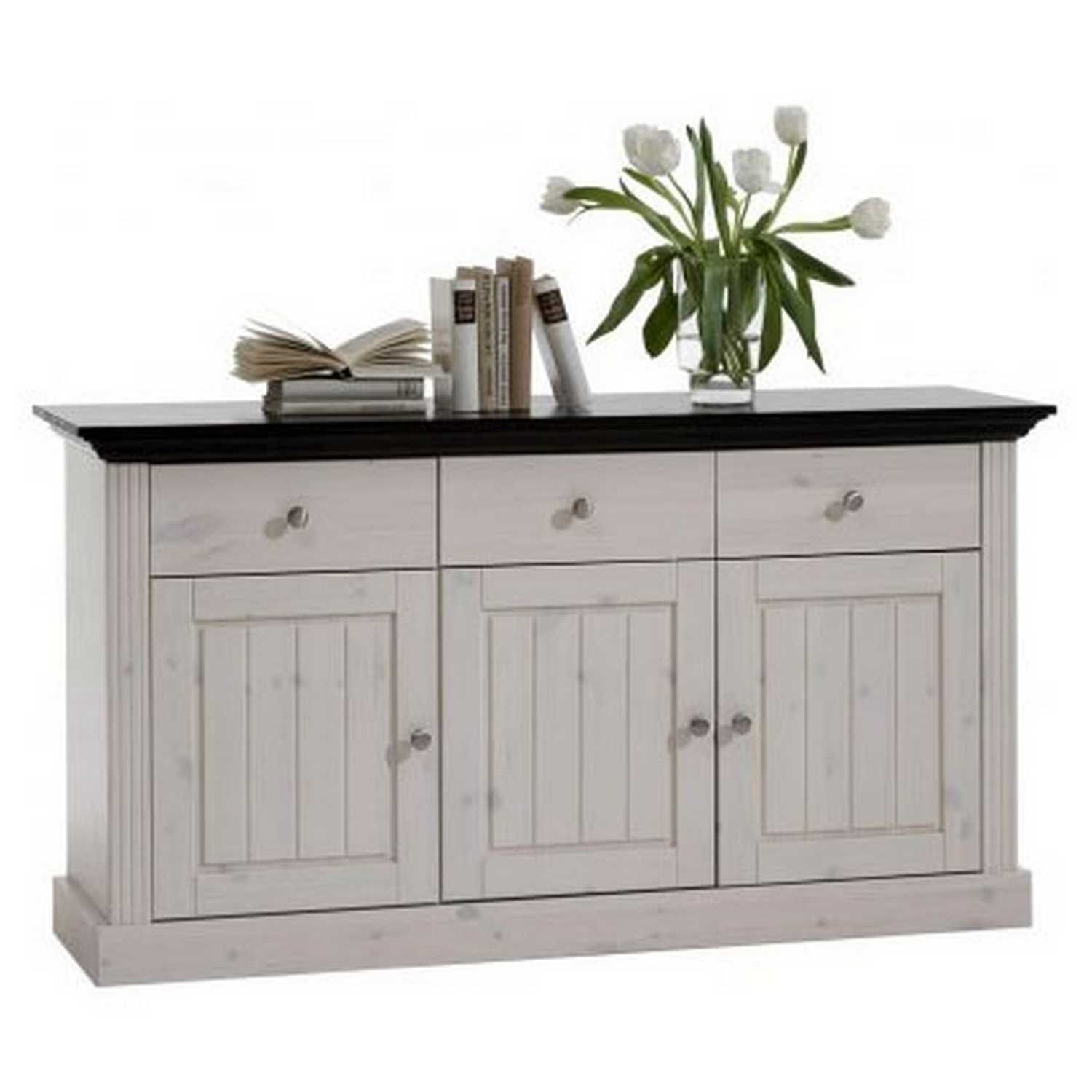 Inspiration about Monaco 3 Door 3 Drawer Sideboard Inside Current 4 Door 3 Drawer White Wash Sideboards (#3 of 20)