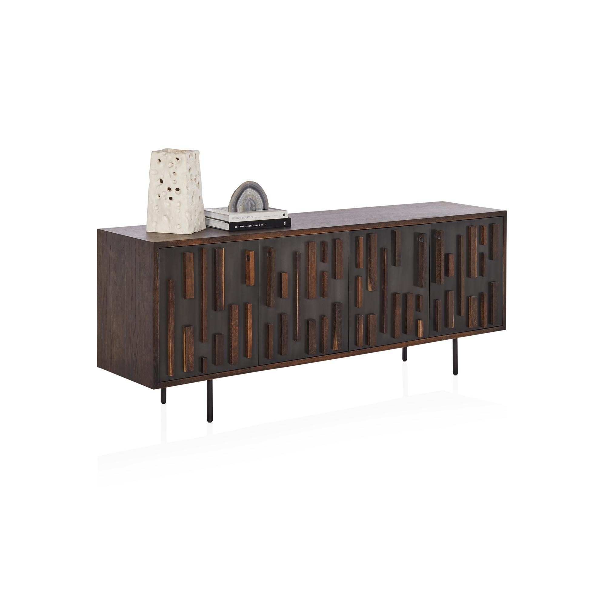 Inspiration about Morten Sideboard Pertaining To Current Square Brass 4 Door Sideboards (#4 of 20)