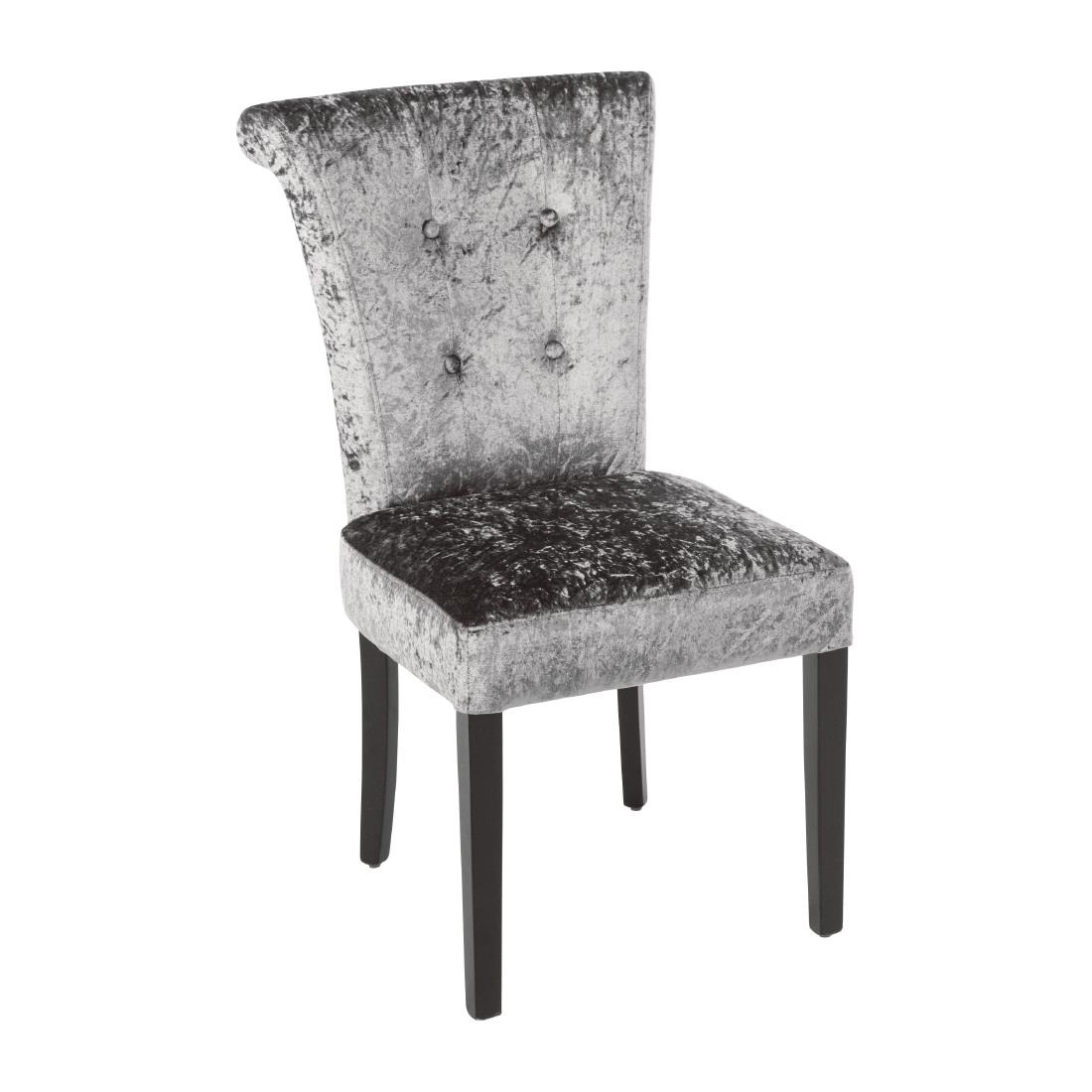 Inspiration about Most Current Bolero Olive Grey Crushed Velvet Dining Chair (pack Of 2) – Dr308 With Dark Olive Velvet Iron Dining Chairs (#18 of 20)