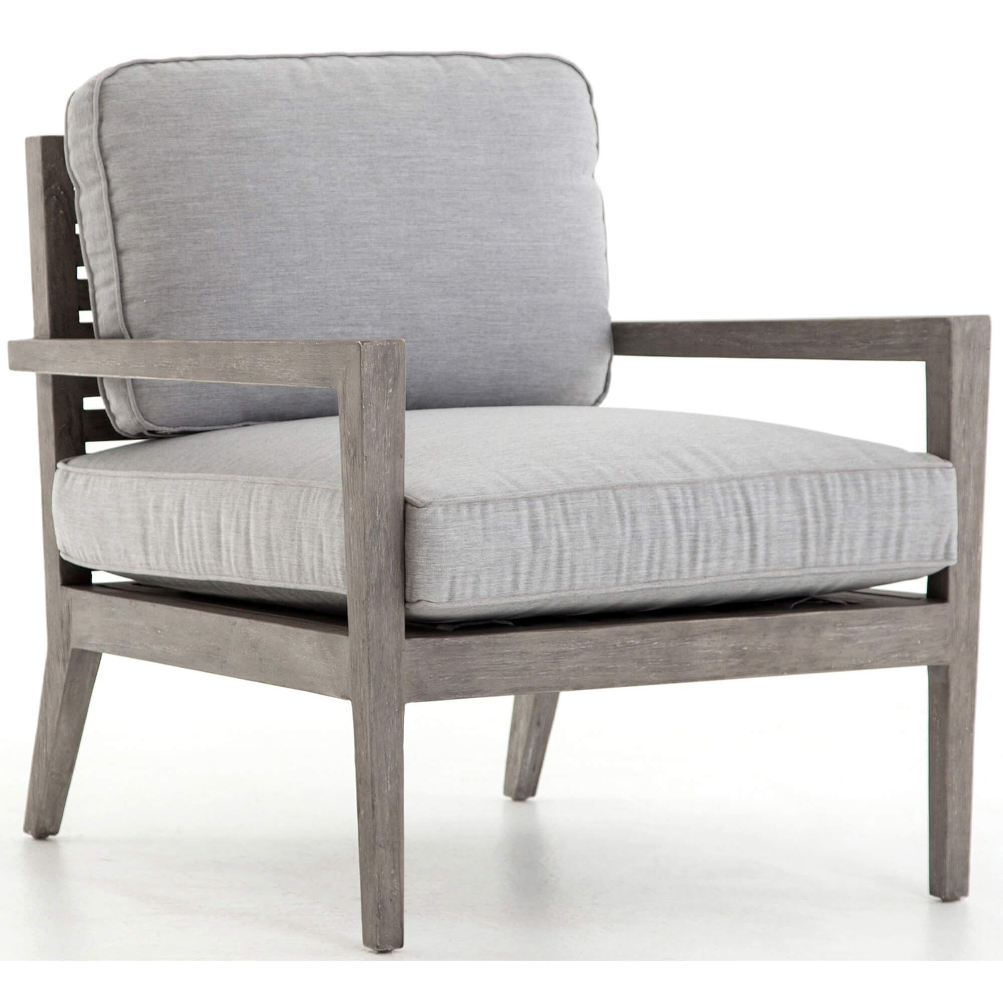 Most Current Laurent Wood Side Chairs Pertaining To Laurent Outdoor Dining Chair, Canvas Graphite (#15 of 20)